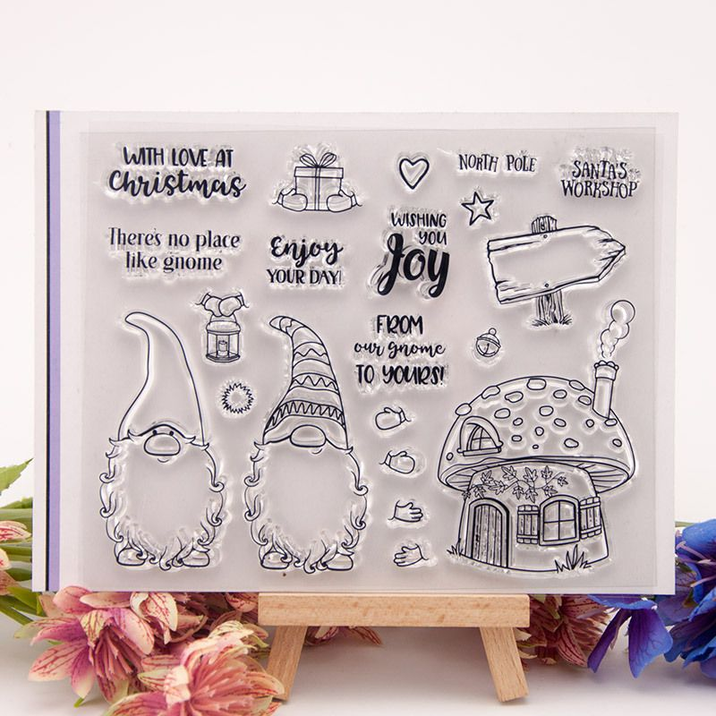Mice Silicone Clear Stamp with Cutting Dies Stencil Set DIY Scrapbooking Embossing Photo Album Decorative Paper Card Craft Art Handmade