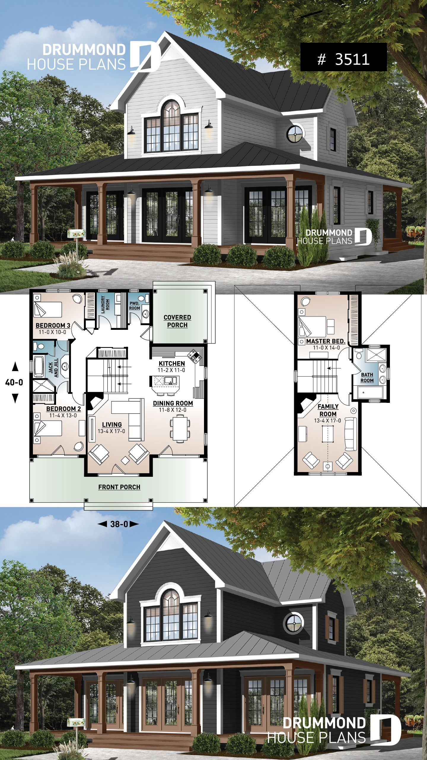 Wraparound Porch Modern Farmhouse With French Doors My Blog Blog Doors Farmhouse French Mod In 2020 Craftsman House Plans Porch House Plans House Plans Farmhouse