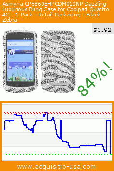 Asmyna CP5860EHPCDM010NP Dazzling Luxurious Bling Case for Coolpad Quattro 4G - 1 Pack - Retail Packaging - Black Zebra (Wireless Phone Accessory). Drop 84%! Current price $0.92, the previous price was $5.69. https://www.adquisitio-usa.com/asmyna/cp5860ehpcdm010np