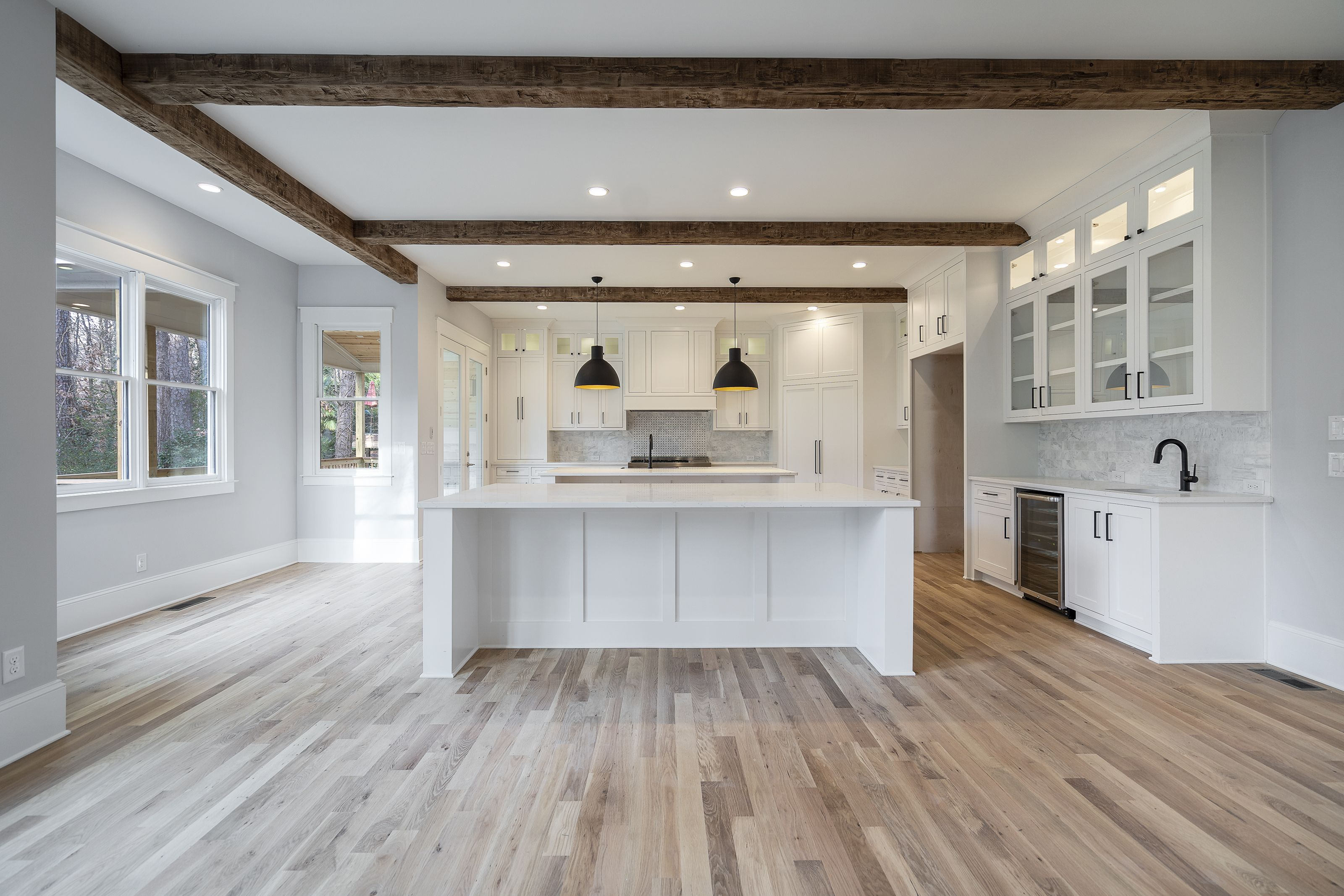 Double Islands, White Oak Floors Stained 9 Natural 9 White ...