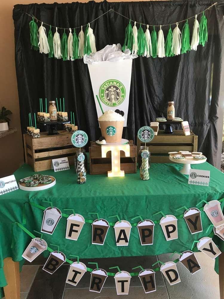 Starbucks Party Birthday Party Ideas | Photo 3 of 9
