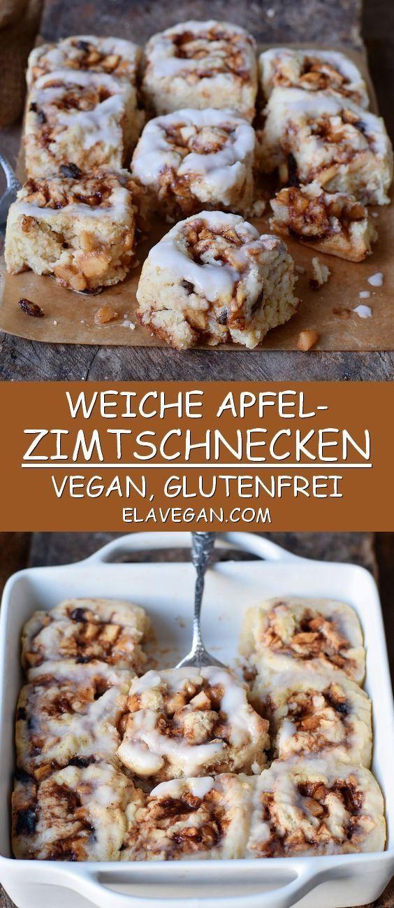 Photo of Apfel-Zimtschnecken Rezept | vegan, glutenfrei – Elavegan