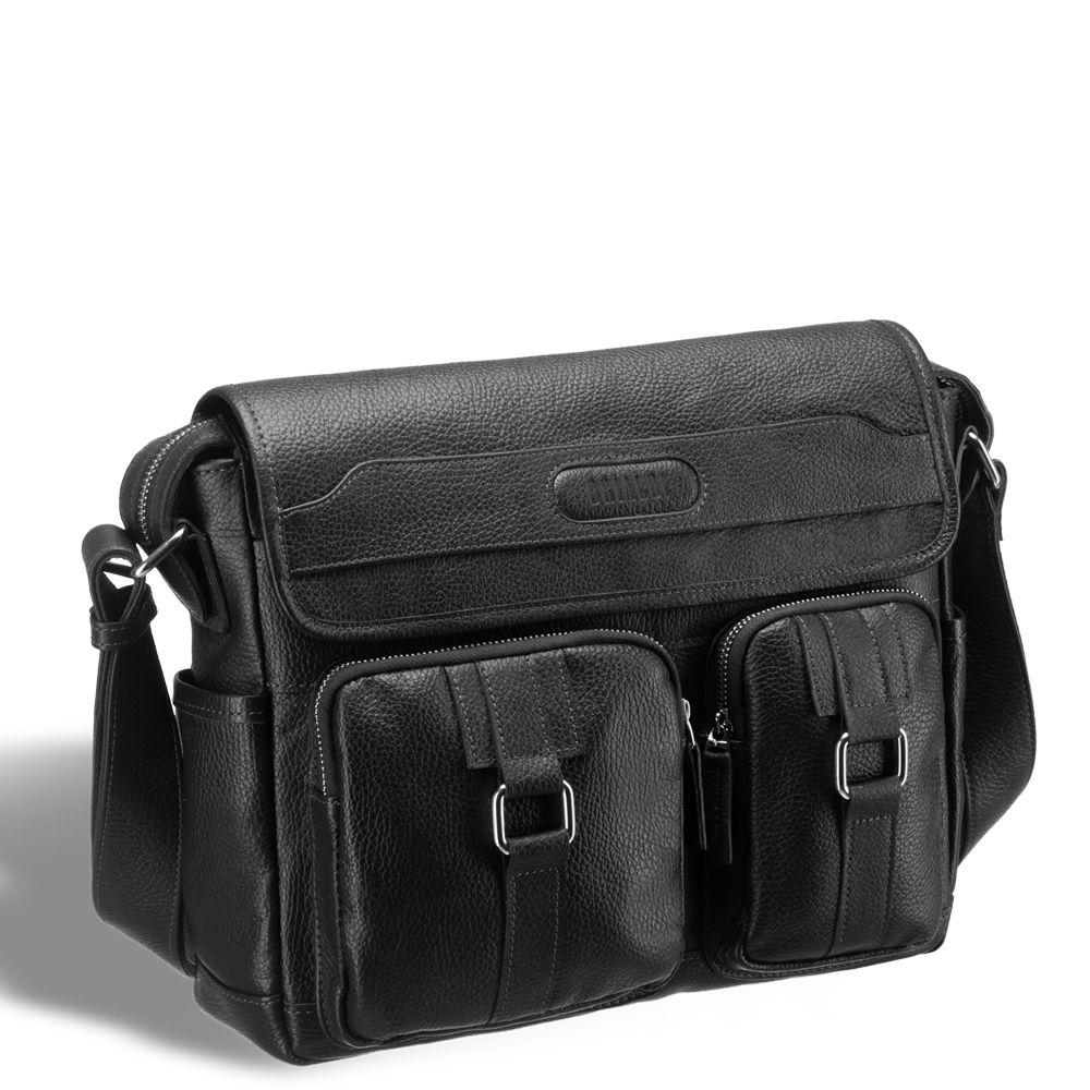 a08b47a154db Горизонтальная сумка через плечо BRIALDI Ontario (Онтарио) relief black  Удобная городская сумка. Позволит