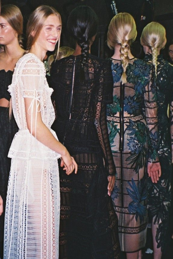 Backstage  Erdem Spring 2015 Backstage. Photo by Coco Capitán.