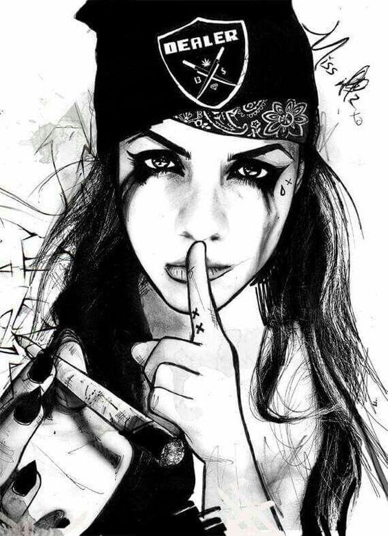 ritning gangster flicka
