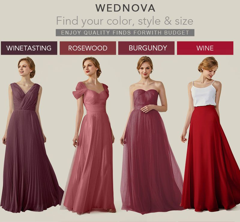 Fall red dresses long for bridesmaid rosewood cold the shoulder dresses  elegant 2018  wedding elegant bridesmaid dresses  908ad28b6314