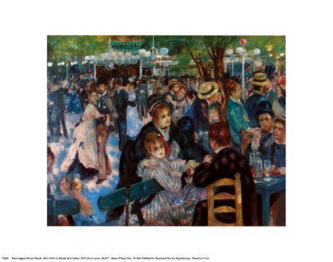 Dance At The Moulin De La Galetter Prints By Pierre Auguste Renoir