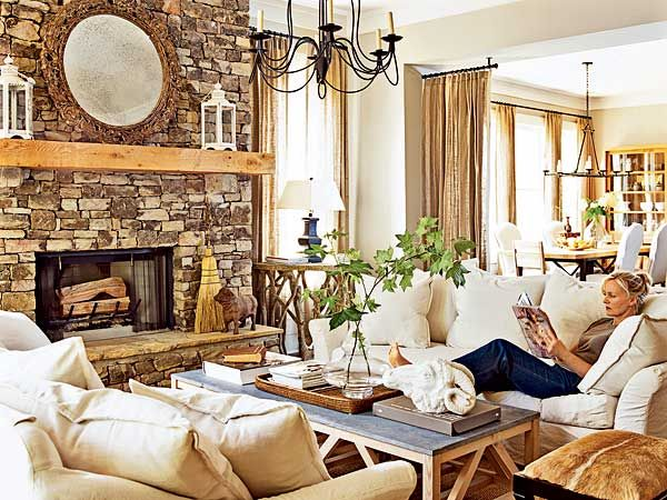Warmth In This Living Room Es From The Mix Of Textures Rhpinterest: Burlap Curtains For Living Room At Home Improvement Advice