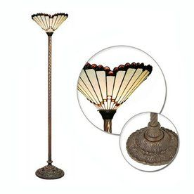 Jewel 72 In Bronze Tiffany Style Torchiere Indoor Floor Lamp With Glass Shade Lowes 121 Warehouse Of Tiffany Stained Glass Floor Lamp Tiffany Style