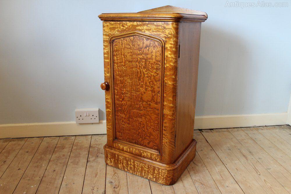 Victorian Ash Bedside Cabinet Antiques Atlas