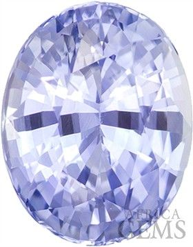 c5af8cf097631 Soft Periwinkle Genuine Sapphire Stone In Oval Cut, Fiery and Bright ...