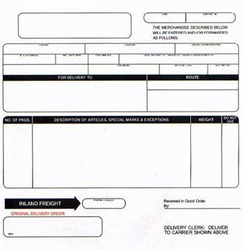Printable Sample Blank Bill Of Lading Form | Real Estate Forms ...