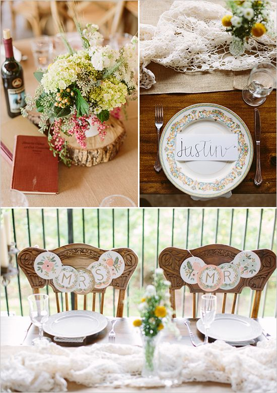 rustic shabby chic wedding decor @weddingchicks