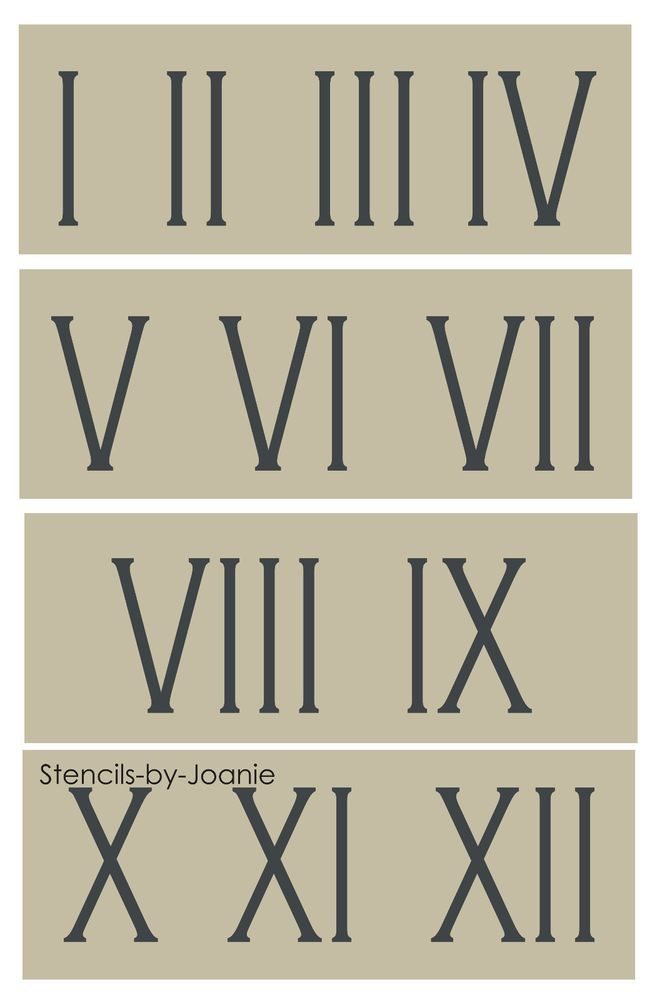 photo relating to Roman Numeral Stencil Printable titled Info relating to Roman Numeral Stencil 3\