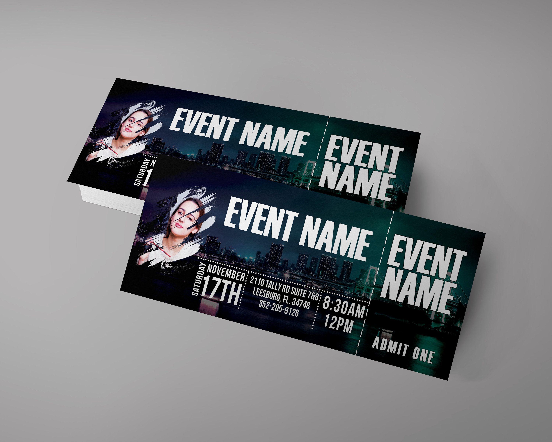 Party Ticket Design Dance Ticket Stand Up Ticket Invitation