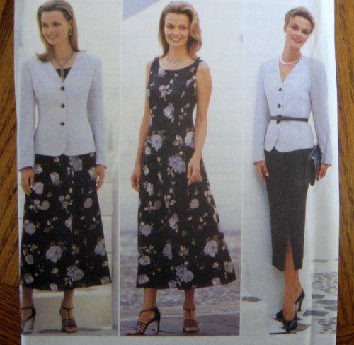 BUTTERICK SEWING PATTERN - 4508 12,14,16 DRESS SKIRT JACKET ...