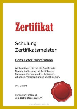 Vorlage Teilnahmezertifikat - Hier schöne Teilnahme-Zertifikate für ...