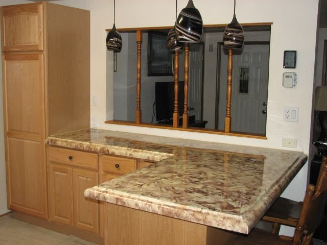 Concrete Countertop Done With The Ogee Edge Z Counterform Stained