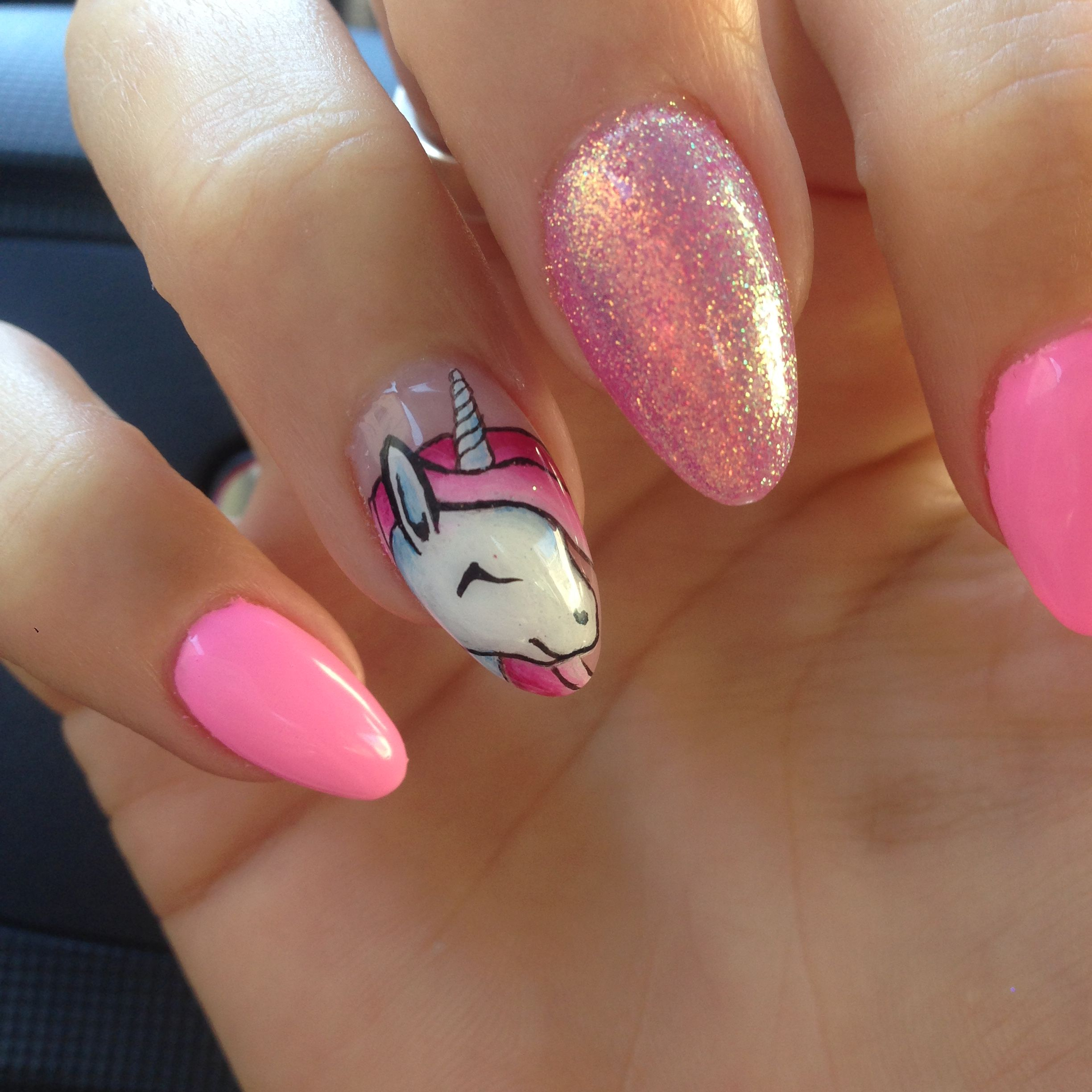 Ongle licorne rose à Paillette ! nails pink so girly
