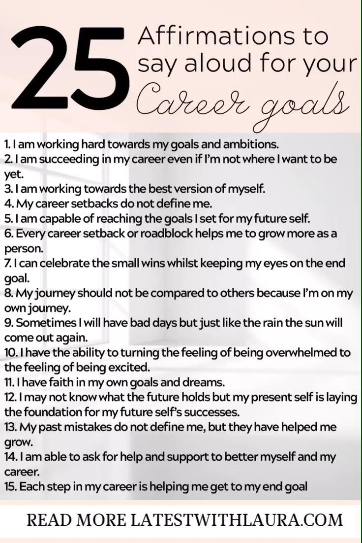 Check out these 25 money career affirmations