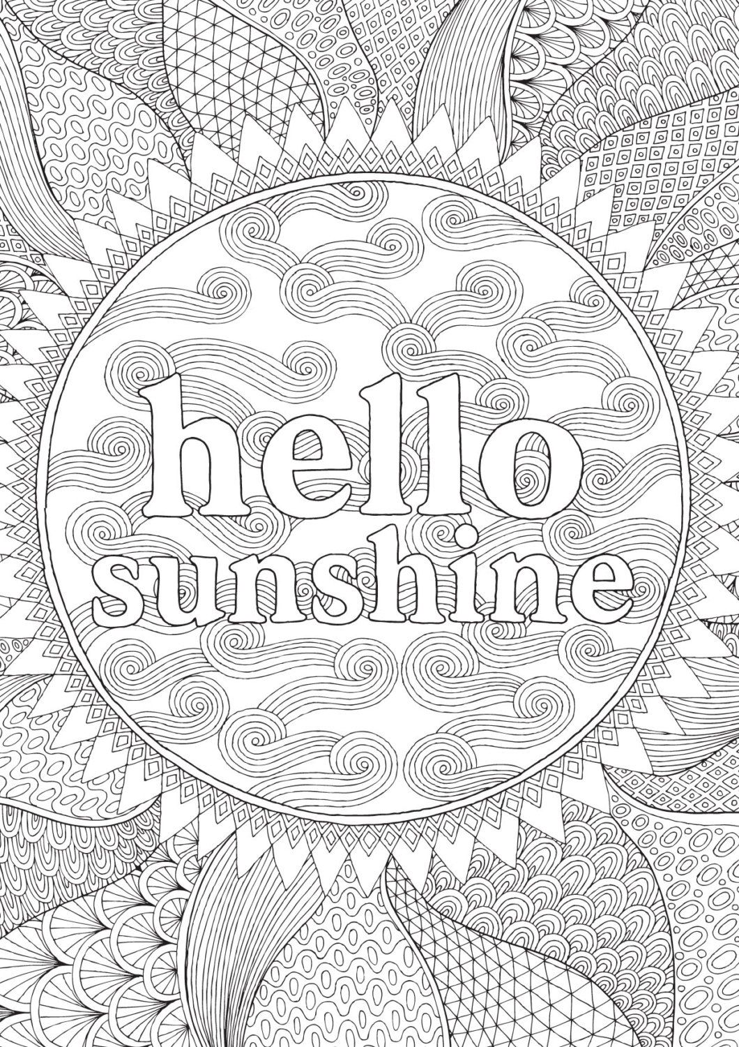 Hello Sunshine Colour With Me Hello Angel By Helloangelcreative