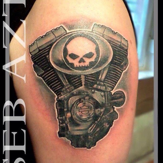 Harley davidson tattoos google search tattoos for Harley skull tattoos