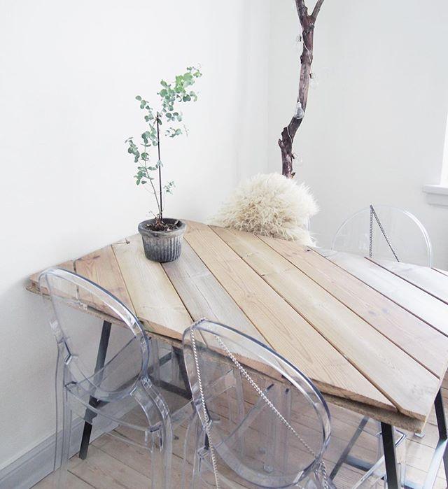 Jeg har vidst aldrig fået vist jer mit DIY spisebord Det er endnu ...