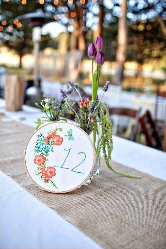 * Con B de Boda *: Números para mesas en tu boda