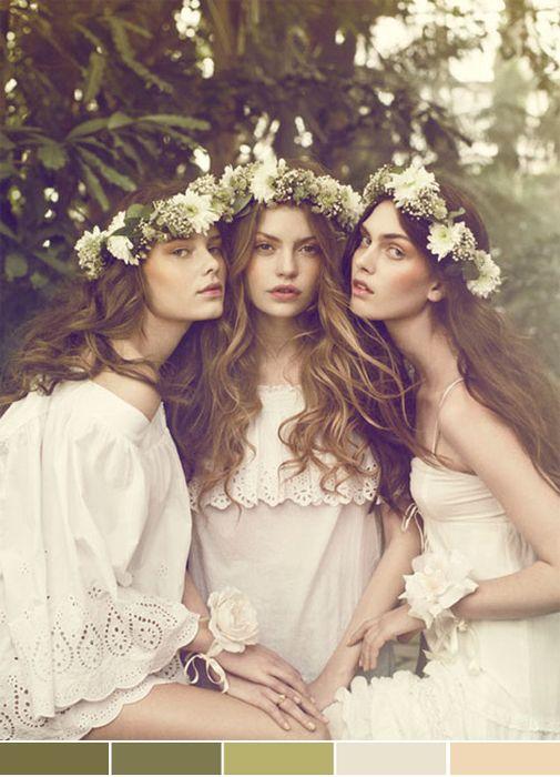 I want flower wreath on my hair on my wedding day