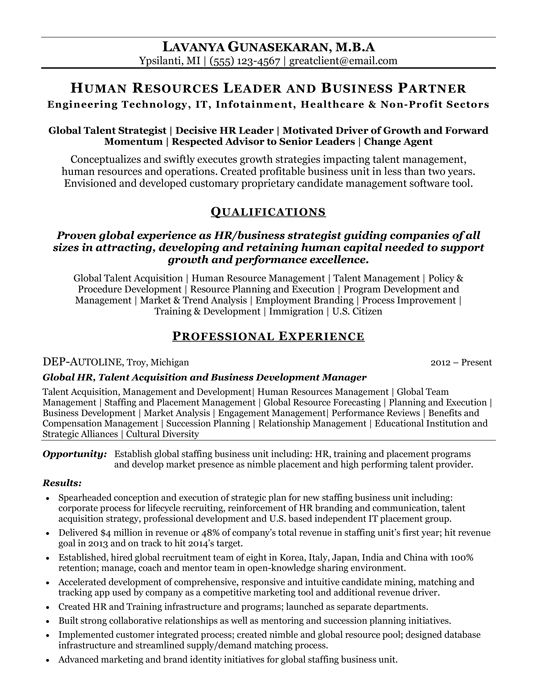 Human Resources Business Partner Resume Writing Services Resume Writer Resume Writing