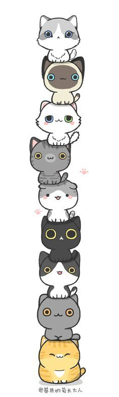 Ahhh They Re So Cuteeeee The Fifth And Bottom Cats Are My Favorite Niedliche Tierzeichnungen Susseste Haustiere Kawaii Sachen