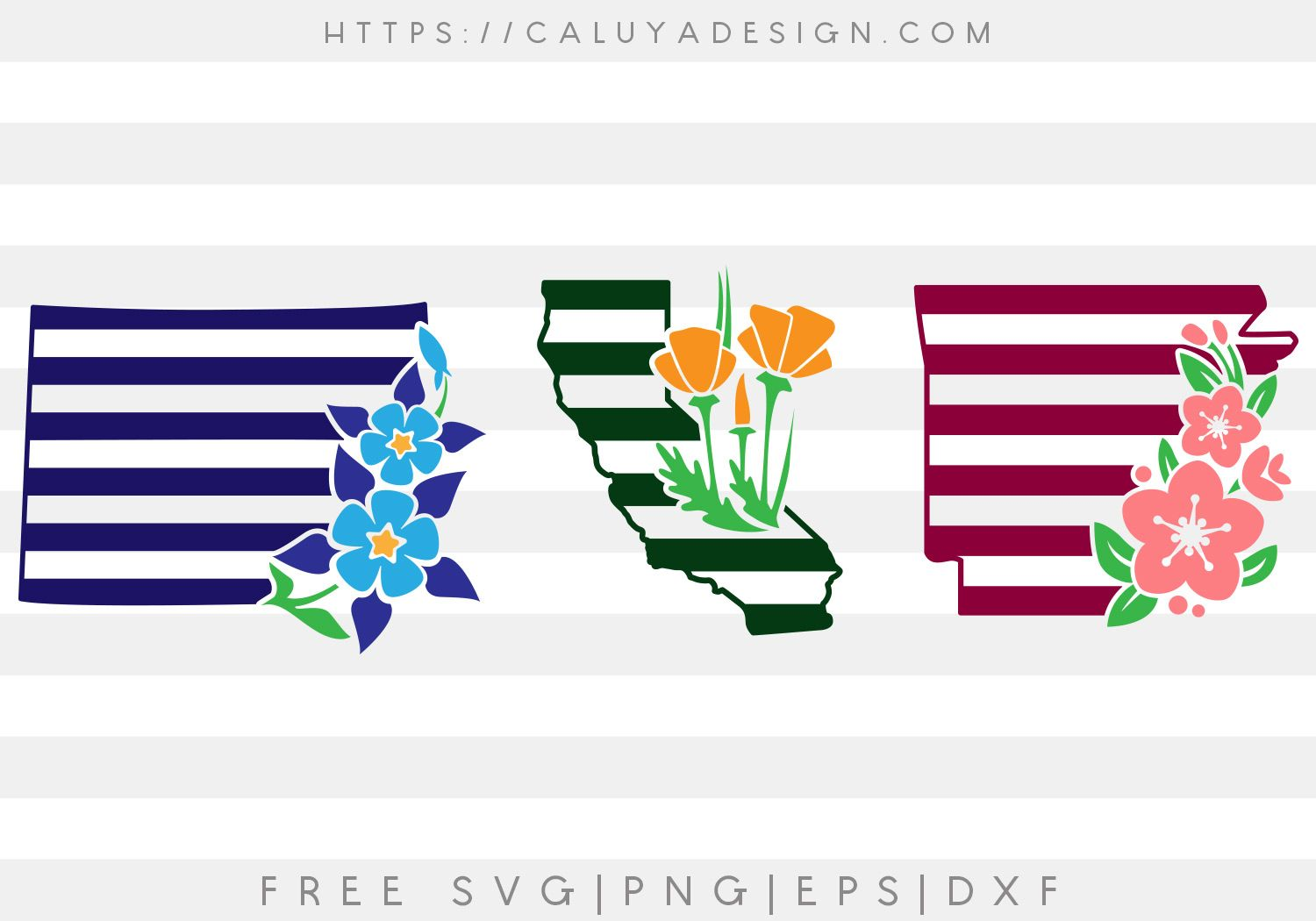 Free Arkansas California And Colorado State Svg Png Eps Dxf Svg Free Svg Eps