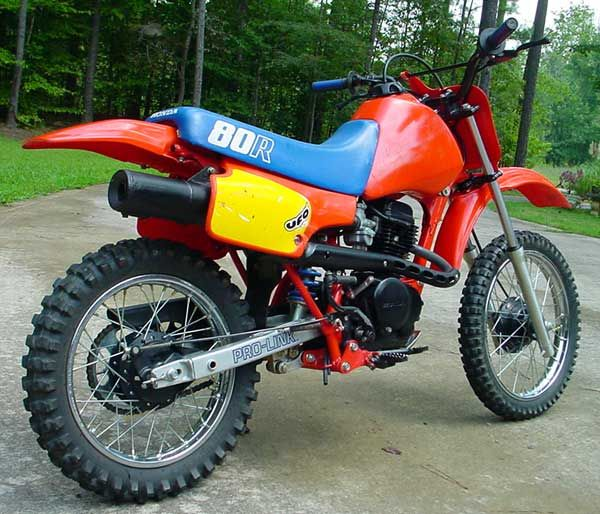 Rear View Of A Honda XR 80 #LetsGetWordy #earningamotorcy