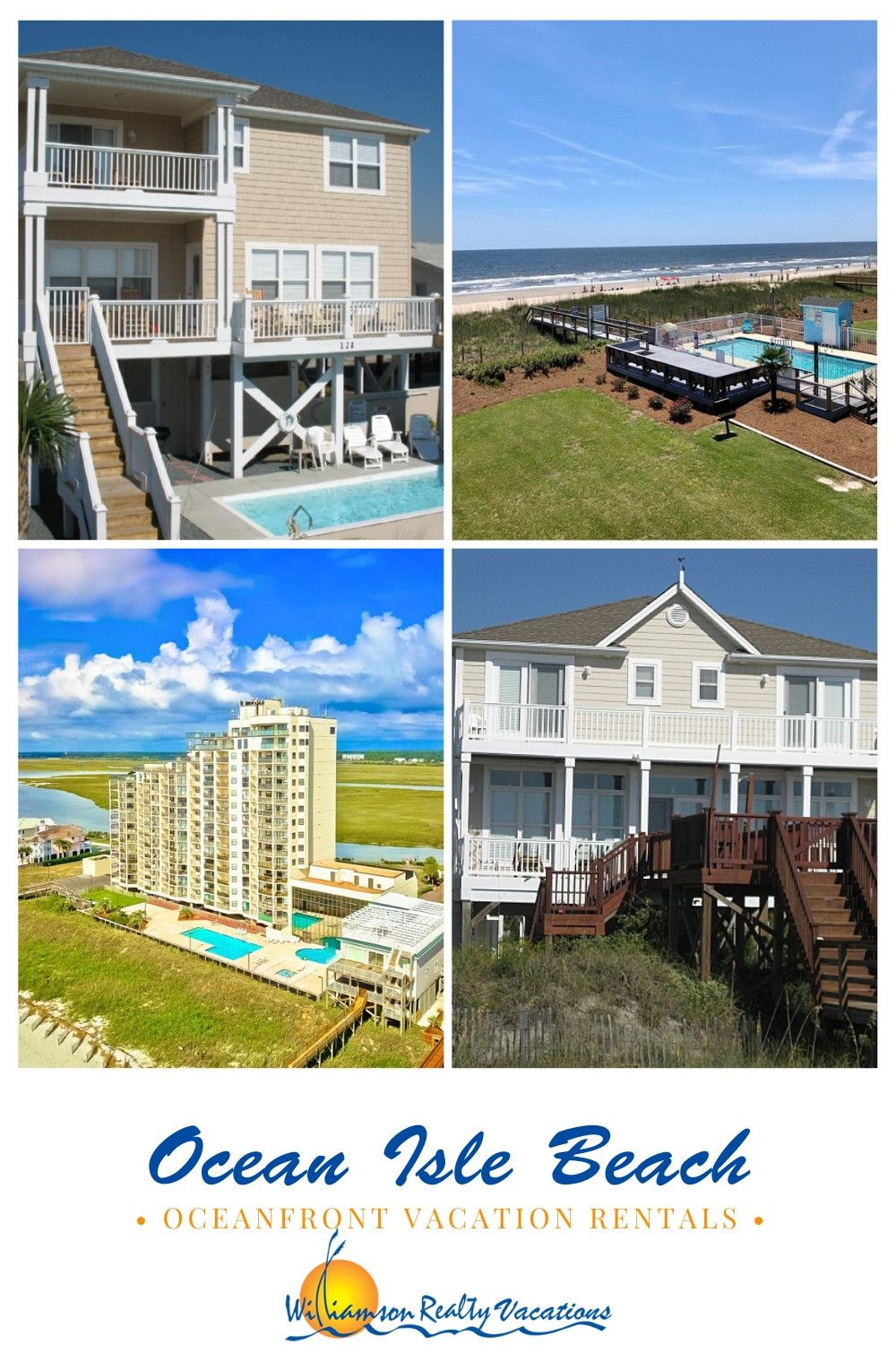 Beach Dreams Come True When You Rent An Oceanfront Vacation Rental From Williamson Realty C Oceanfront Vacation Rentals Beachfront Vacation Rentals Oceanfront
