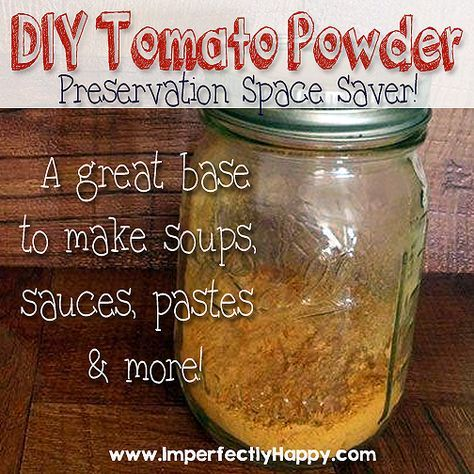 Making tomato powder.  An easy and space saving preservation tool for your tomato abundance.  Use it to make soups, sauces, pastes and more!