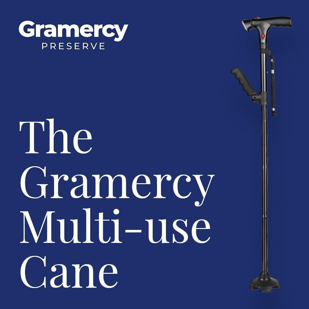 Gramercy Self Standing Foldable Walking Cane With 6 Led Lights With Images Walking Canes You Deserve Better Sit To Stand