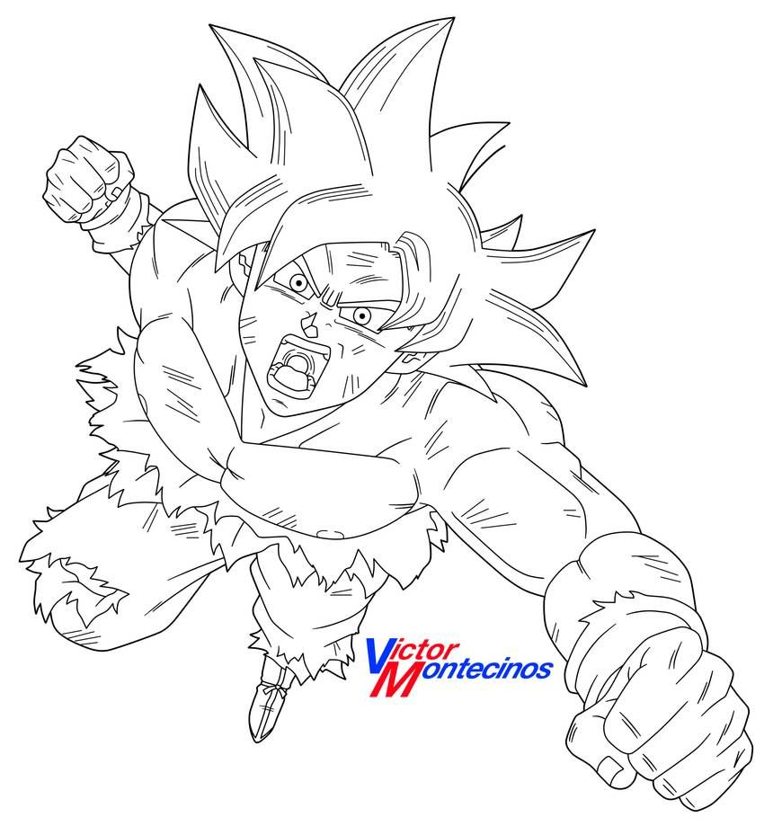 Ultra Instinct Goku Lineart By Victormontecinos Dragon Ball Super Artwork Dragon Ball Artwork Dragon Ball Art