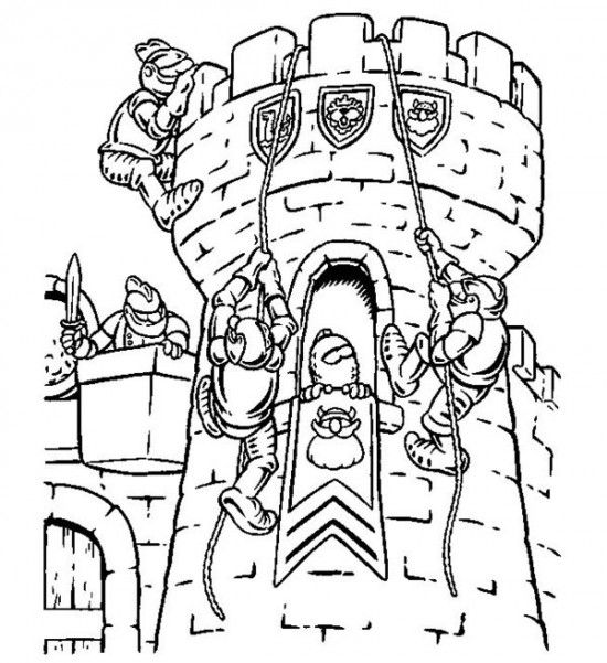 Knights Fight For The Castle Coloring Page Castle Coloring Page Pokemon Coloring Pages Coloring Pages