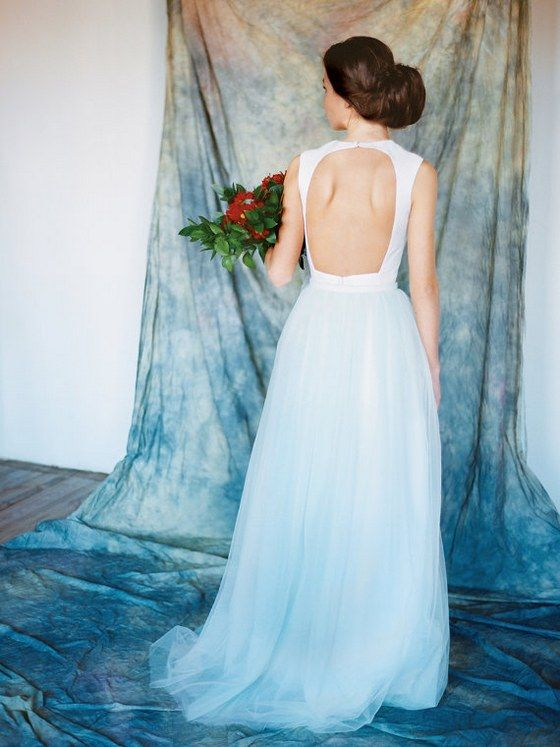 Etsy Finds: Dip-Dyed Ombre Wedding Dresses | Ombre wedding dress ...