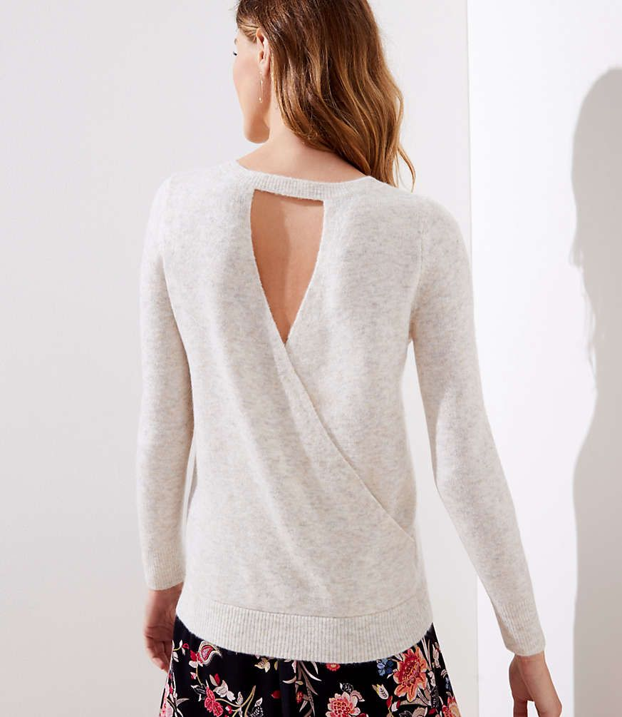LOFT Crossover Bar Back Sweater #loftclothes