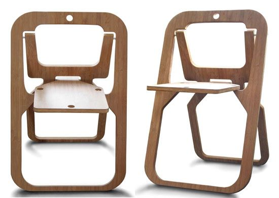 Desile Chair Folds Flat Into A 20mm Thick Sheet Folding Chair Chair Fold Out Chair