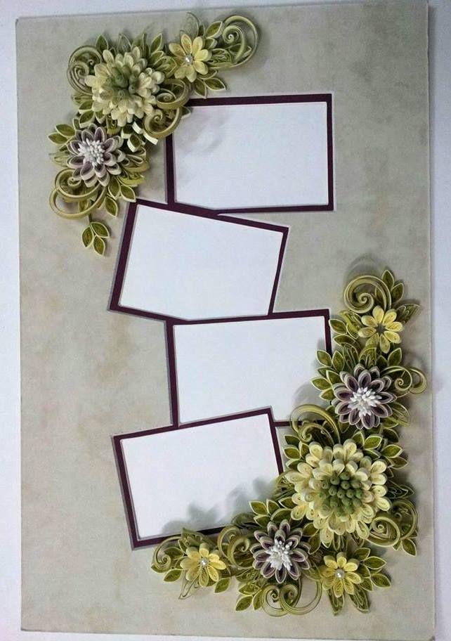 photo frame | paper quilling | Pinterest | Bilderrahmen und Rahmen
