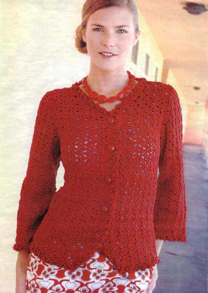 Red Jacket free crochet pattern | Crochet UK clothing | Pinterest ...