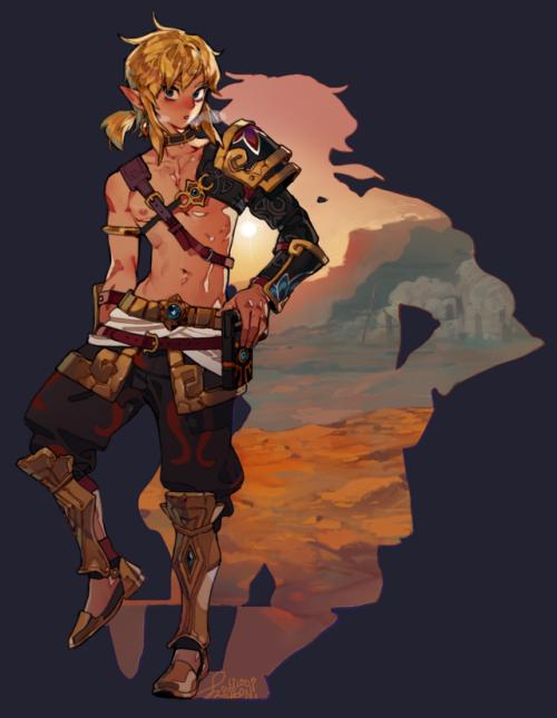 Botw Gerudo Outfit Legend Of Zelda Legend Of Zelda Breath