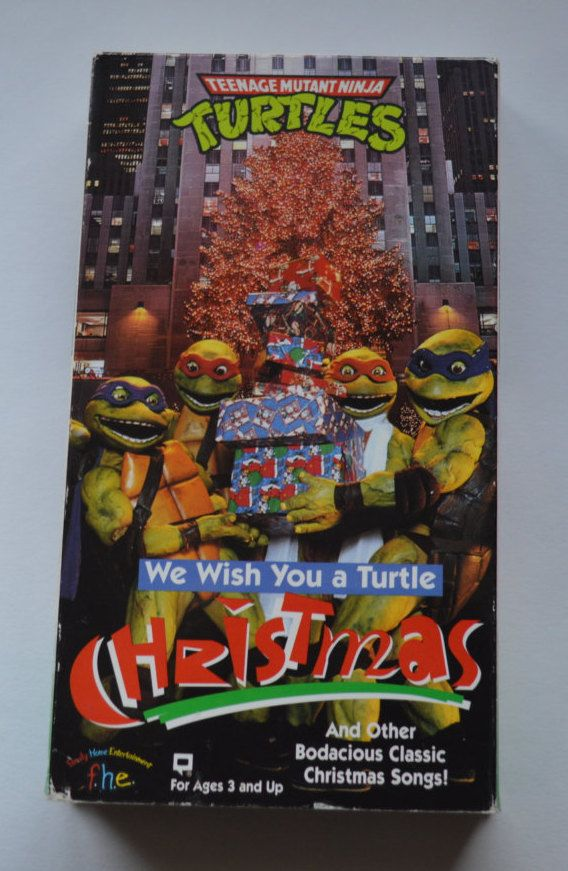 Vintage Teenage Mutant Ninja Turtle Christmas VHS Tape by ...