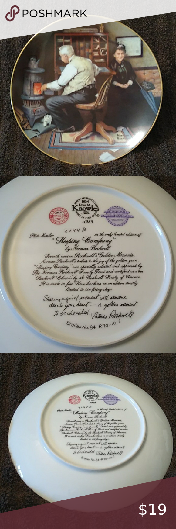 Knowles Norman Rockwell Collector Plate In 2020