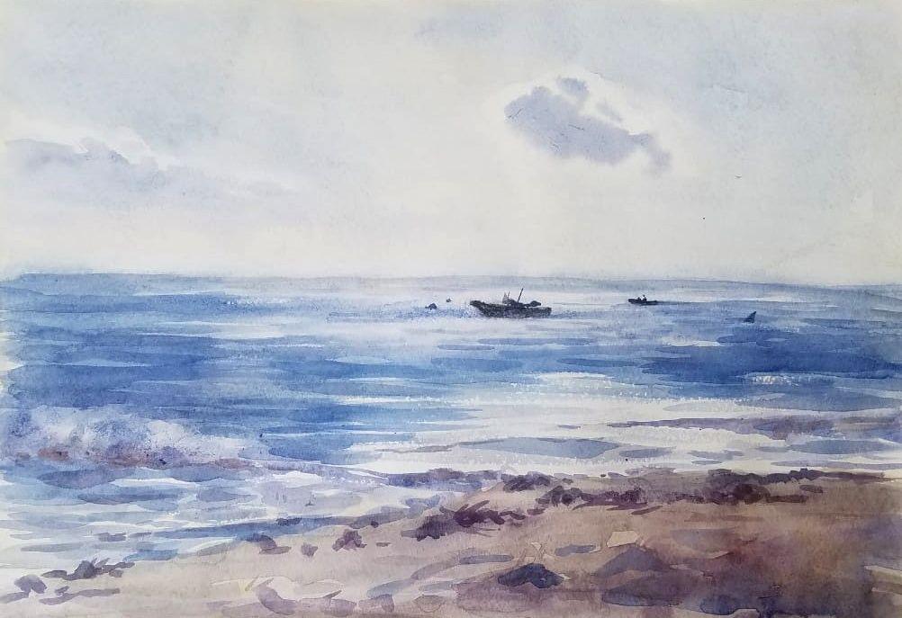 Comment Peindre La Mer En Aquarelle En 2020 Comment Peindre