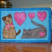 Cat  Dog Mug Rug - Pet Mini Quilt - via @Craftsy