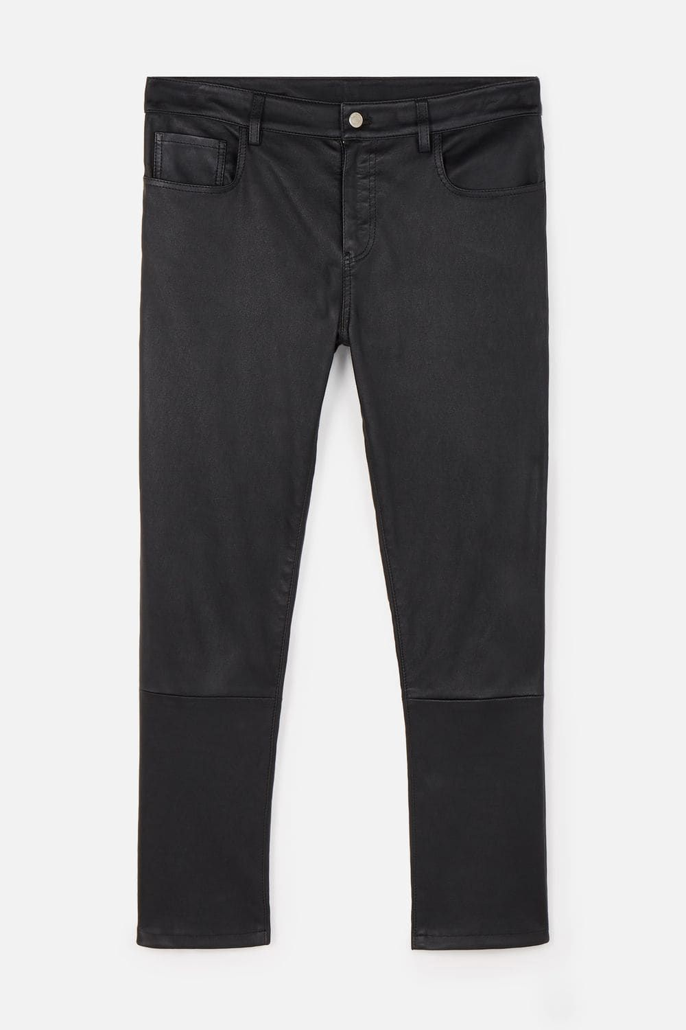 Ami Alexandre Mattiussi 5 Pockets Leather Pants In Smooth Leather AMI PARIS  Couro Liso 7260129b6cd