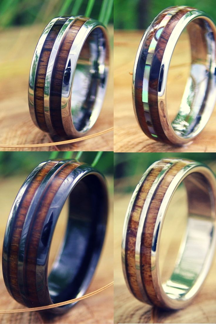 I have to get him one of these wood rings for Christmas
